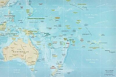 Карта океанії