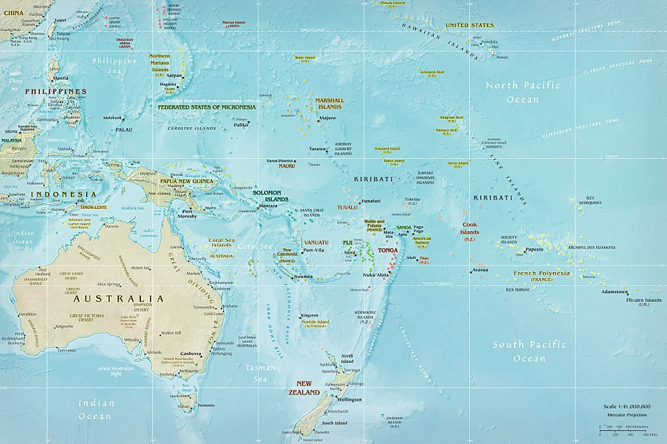 Map of Oceania, from a CIA factbook