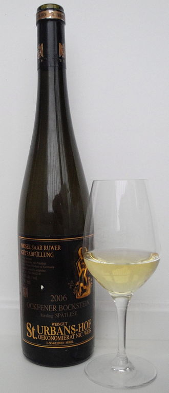 Spätlese - A Riesling Spätlese from Mosel