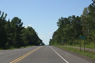 Odanah, Wisconsin - Image: Odanah Wisconsin Sign US2
