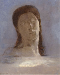 REDON Odilon Closed eyes 1890