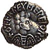 alt = Coin with a man in profile surrounded by lettering reading OFFAREXMERCIOR