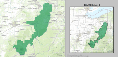 Ohios Th Congressional District Wikipedia - Us congressional districts map ohio