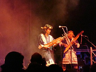 Ainu people - The Oki Dub Ainu Band, led by the Ainu Japanese musician Oki, in Germany in 2007