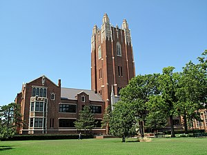 Oklahoma City University - The Administration Building, included in the historic district