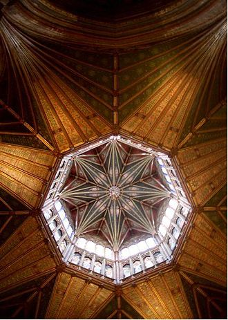 "Architecture of the medieval cathedrals of England - ""The Octagon"" at Ely."