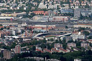 Letzigrund - Image: Old Letzigrund Stadium by Raymond Lafourchette