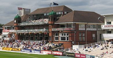 The pavilion at Lancashire's Old Trafford Cricket Ground is an icon of the game. Old Trafford Pavilion.JPG