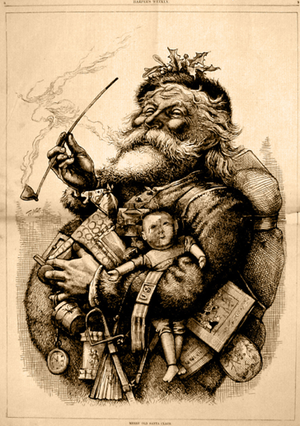 English: Santa Claus from an 1881 edition of H...