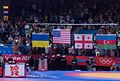 Olympic Freestyle Wrestling at Excel - 96kg Victory Ceremony Flags.jpg