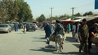 Taloqan - market street in Taloqan