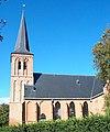 foto van Toren der Hervormde Kerk, met ingesnoerde spits