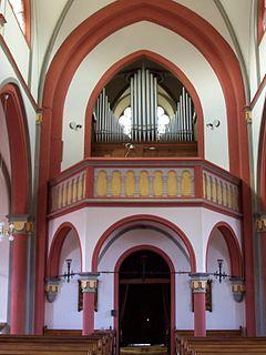 Orgelempore der Pfarrkirche Heiligstes Herz Jesu (Hillesheim-Niederbettingen)