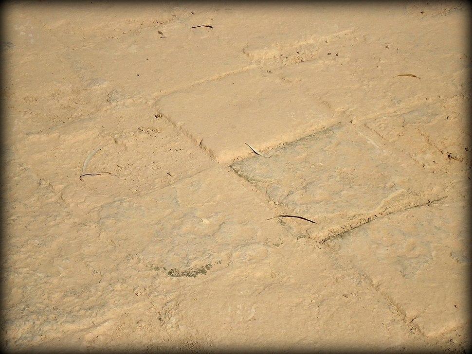 Original tiles of the processional street. Ancient Babylon, Mesopotamia, Iraq.