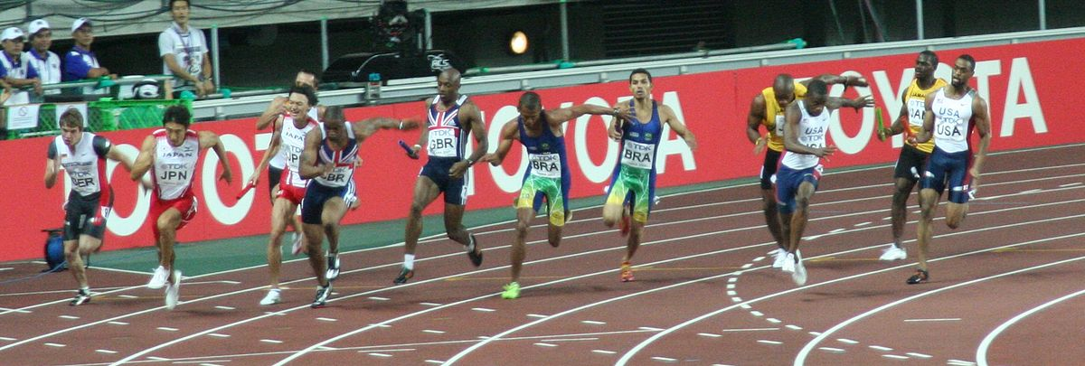 4 Mal 100 Meter Staffel
