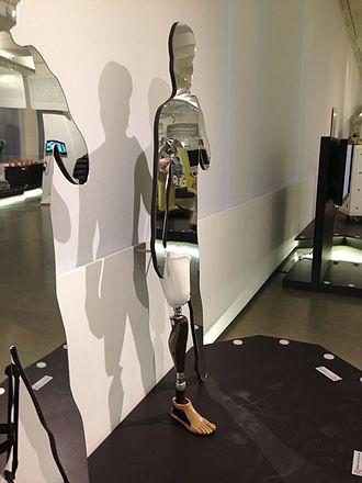 Technisches Museum Wien - Image: Otto Bock Beinprothese genium Technisches Museum Wien Februar 2013
