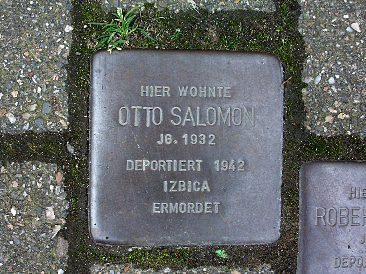 Stolperstein für Otto Salomon