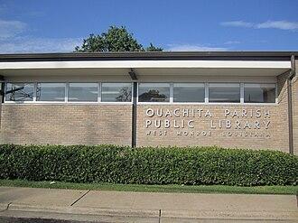 Ouachita Parish, Louisiana - Ouachita Parish Public Library in downtown West Monroe