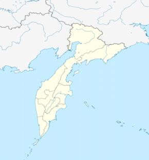 Нижнекамчатск на карте