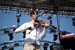Pallett performing at Coachella 2010