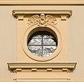 Pörtschach Pfarrkirche hl Johannes d T W-Fassade Fensterrose 26062016 2873.jpg