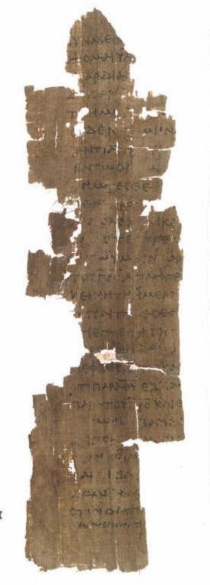 Papyrus Oxyrhynchus 208 + 1781 - Fragment of John 16:22-30