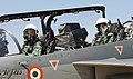 P. V. Sindhu inside the cockpit of twin-seater – HAL's Light Combat Aircraft (LCA) Tejas, on the 4th Day of the Aero India – 2019 air show, at Air Force Station Yelahanka, Bengaluru on February 23, 2019.jpg