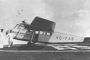 Short Scion - Scion II, VQ-PAB, at the service of Palestine Airways Ltd in 1938
