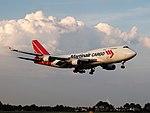 PH-MPS Martinair Holland Boeing 747-412(BCF) landing at Schiphol (EHAM-AMS) runway 18R pic2.JPG