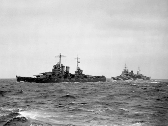 Convoy PQ 17 - Image: PQ17 HMS London and USS Wichita
