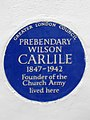 PREBENDARY WILSON CARLILE 1847-1942 Founder of the Church Army lived here.jpg