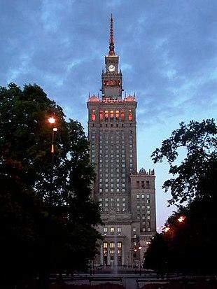 Palazzo della cultura e della scienza , varsavia , 1952 - 1955