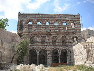 Medieval household - The ruins of the Byzantine Palace of the Porphyrogenitus in Istanbul.