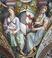 Palazzo capponi-vettori, salone poccetti, pennacchio con stemma capponi salviati, 2.JPG