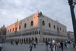 The Doge's Palace, the former residence of the Doge of Venice