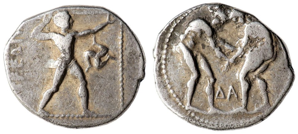 Pamphylia Aspendos Stater, Olympic Games scene
