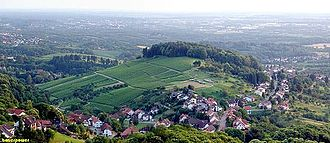 Windeck Castle (Bühl) - Panorama looking west