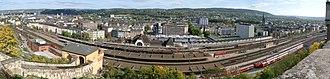 Koblenz Hauptbahnhof - Image: Panorama Koblenz Hauptbahnhof