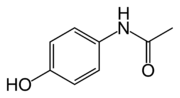 Skeletal structure of paracetamol