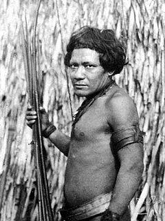 Parintintín people in Madeira River basin,Brazil