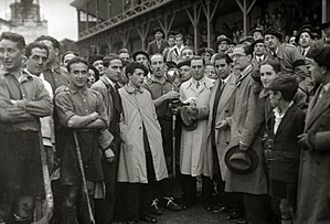 Atotxa Stadium - Public at Atotxa for a hockey game in 1930