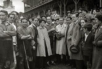 Atotxa Stadium - Public at Atotxa for a hockey game in 1930