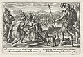 Patroclus verzorgt de gewonde Eurypylus Speculum Heroicum Homeri (serietitel), RP-P-OB-16.042.jpg