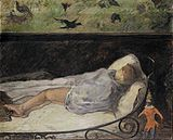 PaulGauguin-1881-The Little One is Dreaming.jpg