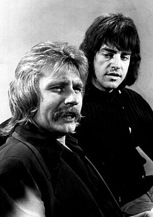 Mark Lindsay - Lindsay at right with Paul Revere in 1973.