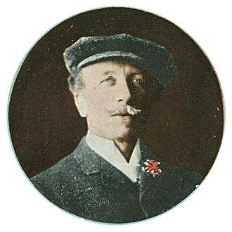 Paul de Longpré - Postcard inset circa 1909