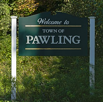 Pawling (town), New York - Town welcome sign along New York State Route 22