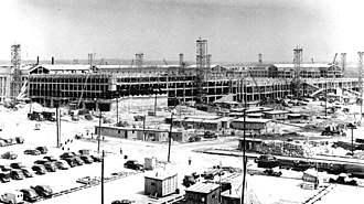 The Pentagon - View from northwest with construction underway, July 1942