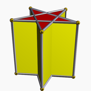 Star polyhedron - Image: Pentagrammic prism