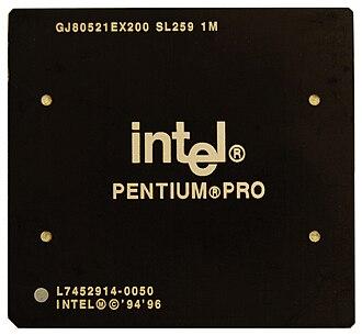 Pentium Pro - 200 MHz Pentium Pro with a 1 MiB L2 cache in PPGA package.